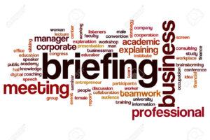 Briefing word cloud